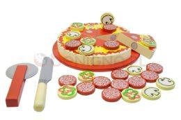 Drewniana układanka pizza
