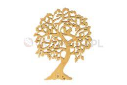 Ozdoba z drewna - ażurowe drzewko z wiewiórkami