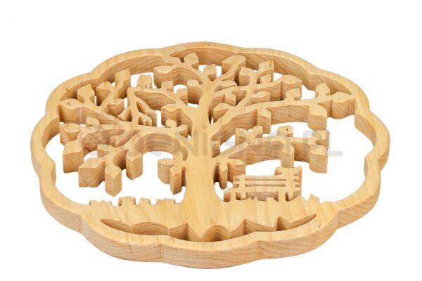 Ozdoba z drewna - ażurowe drzewko