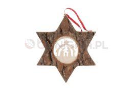 Ozdobna gwiazda z drewna - stajenka