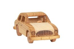 """Duży, drewniany model auta """"Syrena"""""""
