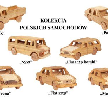 Kolekcja modeli polskich samochodów z czasów PRL